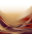 Colorful waves isolated abstract background ocher vector image vector image