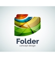 Computer folder logo template vector image