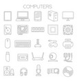 Computer service and parts icon set