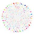 confetti stars festive globula vector image vector image