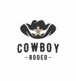 cowboy hat logo design inspiration vector image vector image