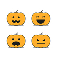 Different helloween pumpkin icons clip-art vector image vector image