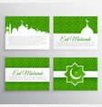 eid festival greeting cards set vector image