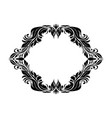 filigree floral frame ornamental decoration in vector image