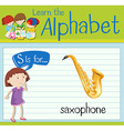 Flashcard letter S is for saxophone vector image vector image