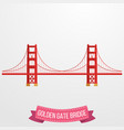golden gate bridge icon on white background vector image