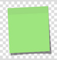 green paper sticky note glued to surface vector image vector image