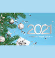happy 2021 new year wishing card vector image