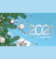 happy 2021 new year wishing card vector image vector image