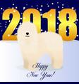 happy new year card with komondor vector image vector image