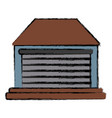 home garage isolated vector image vector image
