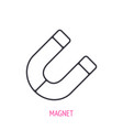 horseshoe magnet outline icon vector image