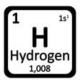 Hydrogen icon vector image vector image