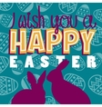 I wish a happy easter vector image vector image