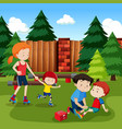 kid injury from roller skate vector image vector image