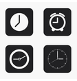 modern clock icons set vector image