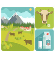 modern flat design of milk vector image