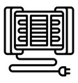 modern home heater icon outline style vector image