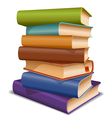 Multi colored books vector image vector image