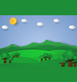 nature landscape background paper art style vector image vector image
