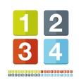 Number set flat design vector image