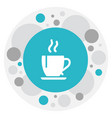 of cooking symbol on tea icon vector image