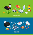 office equipment horizontal banners vector image