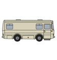 old transport and service vehicle vector image vector image