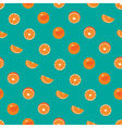 Orange with peel and orange slice seamless pattern vector image vector image