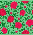 pink rose forest pattern vector image