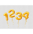 realistic 1 2 3 balloon number for a party vector image