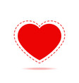 romantic red heart isolated icon vector image vector image
