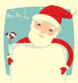 Santa Claus card for text vector image vector image