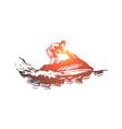 sea summer water hydro cycle activity concept vector image vector image