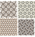 Set of stylish seamless geometrical backgrounds vector image vector image