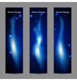 Set of vertical banners with abstract blue fire vector image vector image