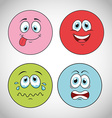 smiley faces design vector image