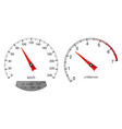 speedometer and tachometer scales on white vector image vector image