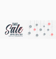 stylish christmas sale banner design vector image