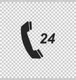 telephone 24 hours support icon isolated vector image