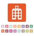 The hospital icon Medical and ambulance vector image