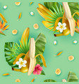 tropical plants banana pattern vector image