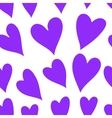 Valentines Day pattern with hearts vector image vector image