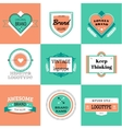 vintage logo design elements Vintage retro vector image