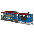 vintage steam tramway vector image vector image