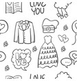 wedding hand draw style doodles vector image vector image