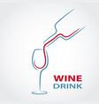 wine glass concept menu design stock vector image vector image