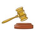 Wood judge gavel icon cartoon style vector image