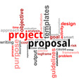 word cloud project proposal vector image vector image
