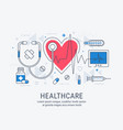 healthcare thin line vector image